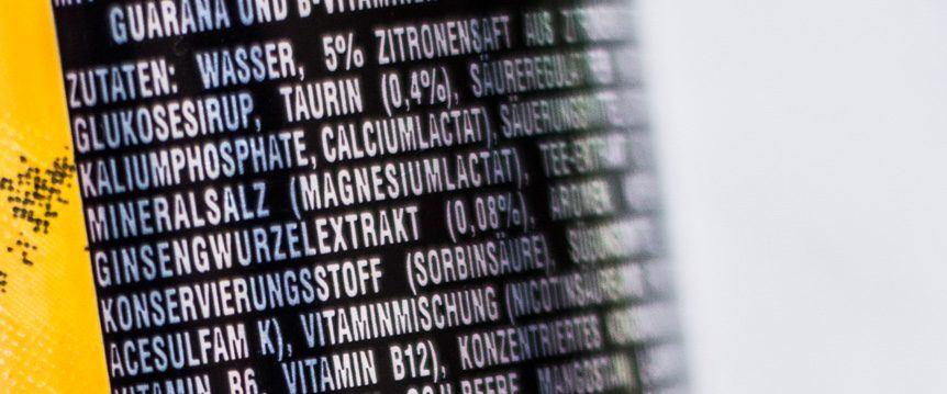 Konservierungsmittel in Lebensmittel Etikett