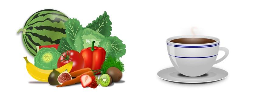 Obst Kaffee