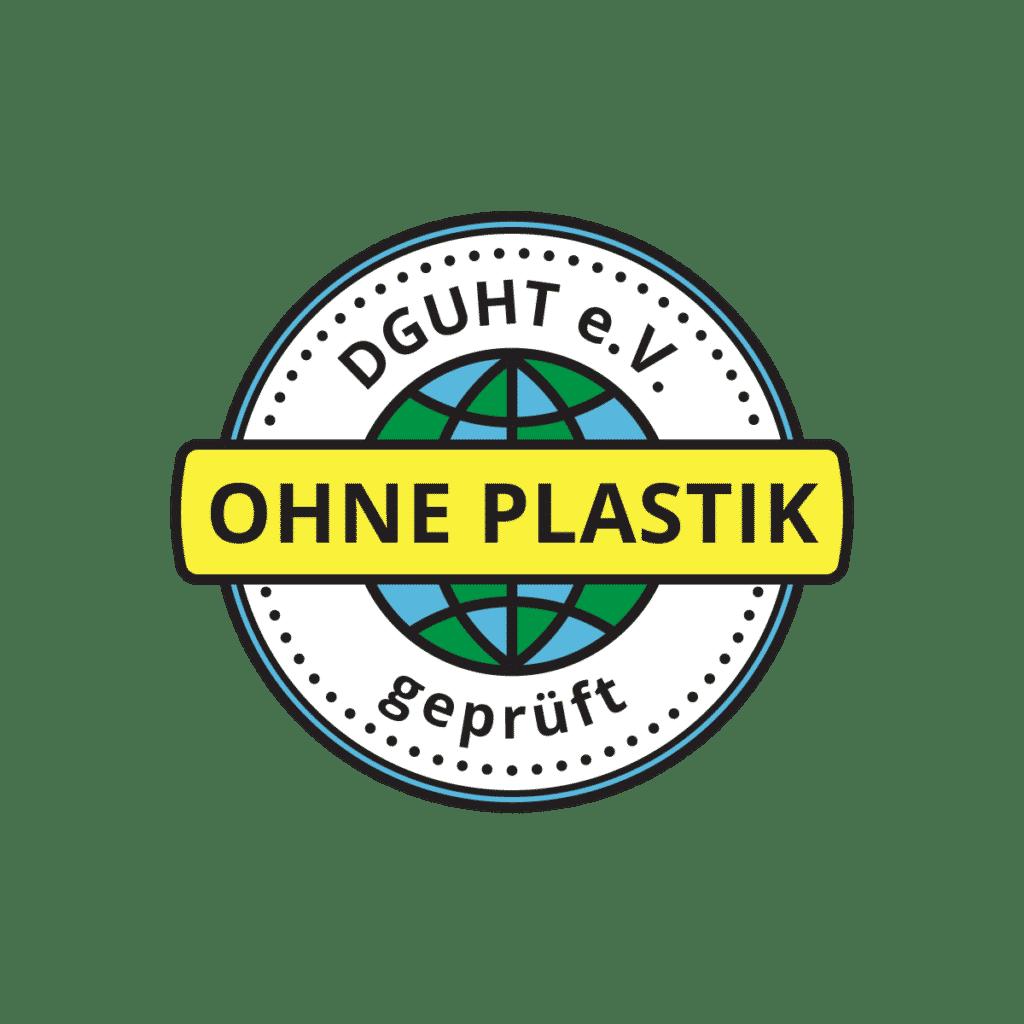 Ohne Plastik - Prüfzeichen